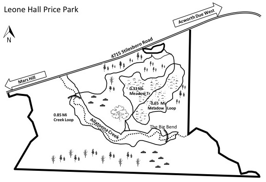 Leone Hall Price Park Trail Map